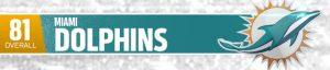 MIAMI DOLPHINS (TEAM 81 OVR)