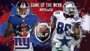 2K OLF Week 1 - Game of the week: New York Giants vs Dallas Cowboys