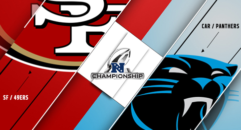 The 49ers and Panthers will battle it out in the NFC Championship