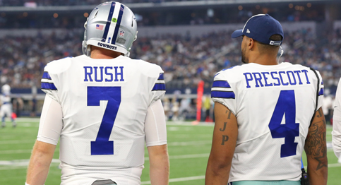 Cowboys promote Rush to backup QB as Moore is released.