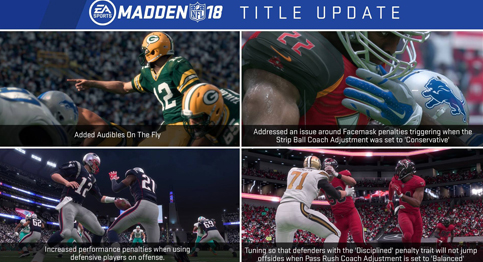 Read about the latest Madden NFL 18 title update from EA Sports