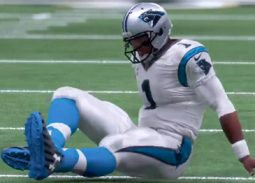 Newton suffers injury in win over Saints