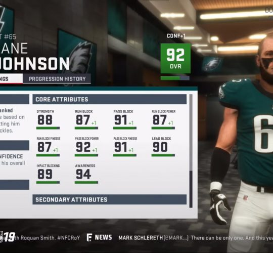 Madden 19 – Player attributes