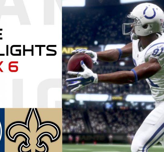 Colts vs Saints Week 6 Highlights