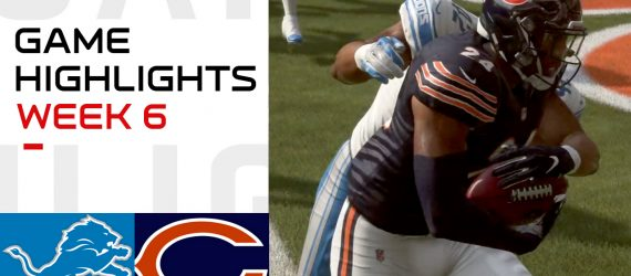 Lions vs Bears Week 6 Highlights