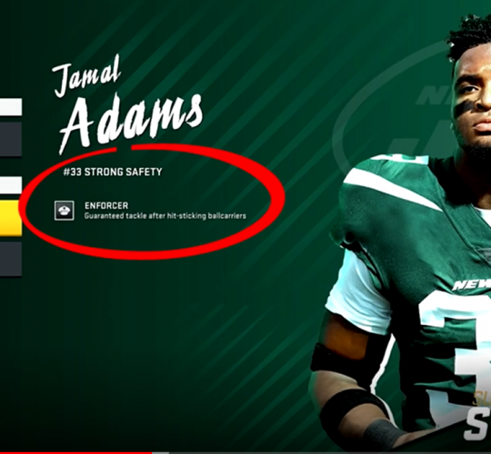 Jamal Adams X-factors in Madden 20